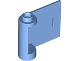 Door 1 x 3 x 2 Right - Open Between Top and Bottom Hinge New Type with Horizontal White Line Pattern, Medium Blue (92263pb004 / 6236639)