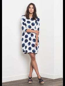 Платье в большой синий горох FA3207_795