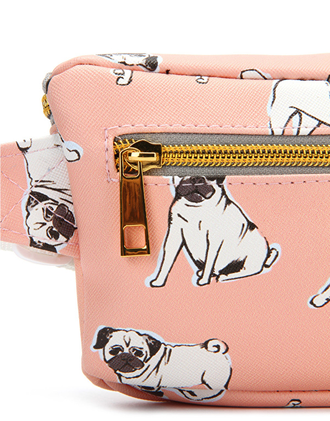 Mi Pac Bum Bag Pugs Peach