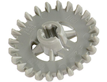 Technic, Gear 24 Tooth Crown  2nd Version - Reinforced , Light Gray (3650b / 365002)