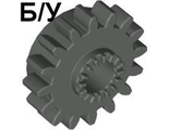 ! Б/У - Technic, Gear 16 Tooth with Clutch, Dark Bluish Gray (6542 / 4237267 / 6542199) - Б/У
