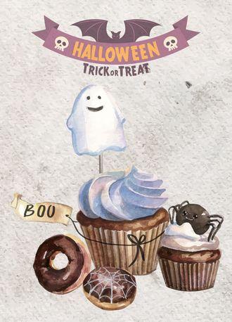 Кексы с привидением