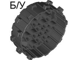 ! Б/У - Wheel Hard Plastic with Small Cleats, Black (64711 / 4538781) - Б/У