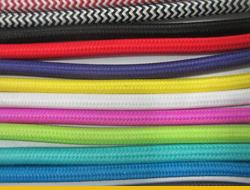 Цветные текстильные провода