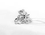 фигурка обезьяны серебро