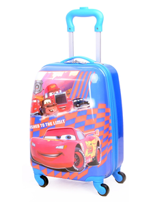 Детский чемодан на 4 колесах - Тачки МакВин / The Cars McQueen «Disney» - синий