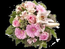 Букет Каприз цветных роз и Хризантем