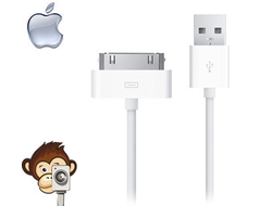 Кабель USB-Dock для Apple (iPhone 4, iPad 3)