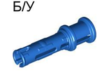 ! Б/У - Technic, Pin 3L with Friction Ridges Lengthwise and Stop Bush, Blue (32054 / 3205423 / 4107741 / 4140800) - Б/У