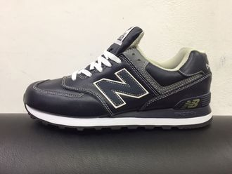 NB 574 Leather navy