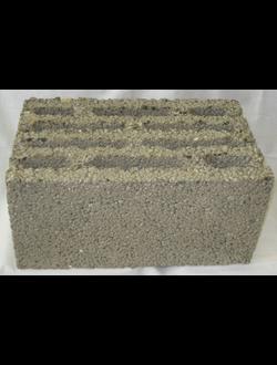 Блок керамзитобетонный стеновой десятищелевой 390х230х188 мм КСР-ПР-ПС-39-35-F50-800