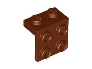 Bracket 1 x 2 - 2 x 2, Reddish Brown (44728 / 6075212 / 6117976)