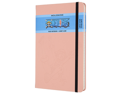 Блокнот Moleskine LIMITED EDITION ONE PIECE (в линейку) large Soft Touch, розовый