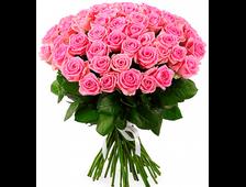 Розовый фламинго (51 роза)