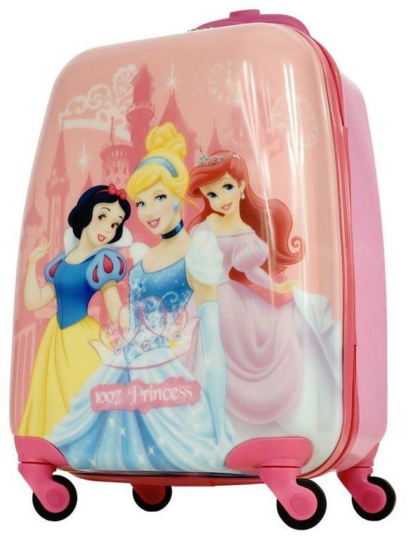 68968245c137 Детский чемодан на 4 колесах Принцессы Дисней / Disney Princess pink (Три 3  принцессы) - 7