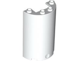 Cylinder Half 2 x 4 x 5 with 1 x 2 Cutout, White (85941 / 4549276)