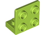 Bracket 1 x 2 - 2 x 2 Inverted, Lime (99207 / 6094031)