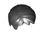 Minifig, Hair Short Tousled with Side Part, Black (62810 / 4526110 / 4569091)