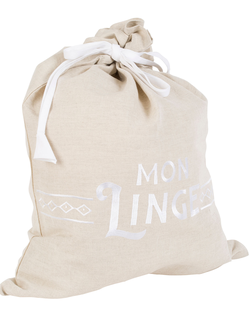 МЕШОК ДЛЯ ВАННОЙ 200559 LAUNDRY BAG LES BAINS WHITE 45X60CM LINEN+COTTON