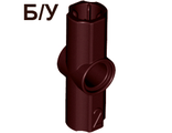 ! Б/У - Technic, Axle and Pin Connector Angled #2 - 180 degrees, Brown (32034) - Б/У