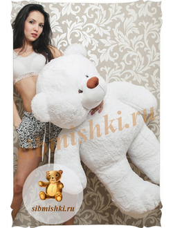 Большой белый мишка Веня (110 см)