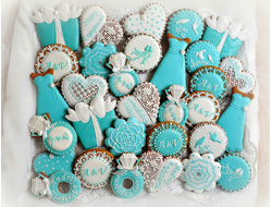 Пряник «Tiffany blue»