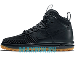 Nike Lunar Force 1 Duckboot Black/Black-Metallic Silver-Anthracite