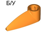 ! Б/У - Bionicle 1 x 3 Tooth with Axle Hole, Orange (x346 / 4175219 / 4281515) - Б/У