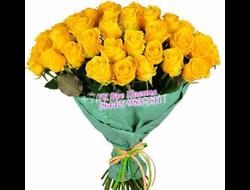 25 шикарно желтых роз