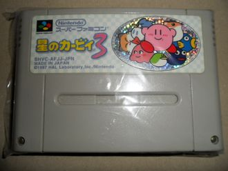 Kirby's Dream Land 3 HOSHI no KIRBY 3 SNES Super Famicom