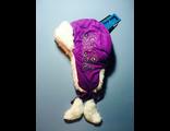 Теплая зимняя шапка-ушанка Lummie цвет Dark Purple