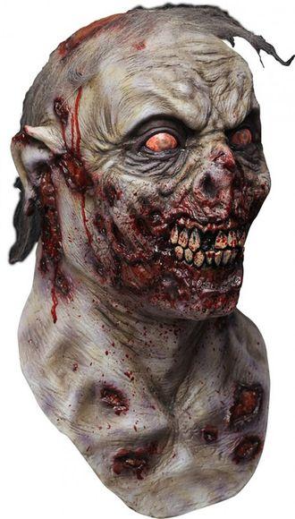 зомби, кровь, жуткая, страшная, маска, на голову, мутант, череп, зубы, кровавый, с кровью, монстр