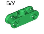 ! Б/У - Technic, Axle and Pin Connector Perpendicular 3L with Center Pin Hole, Green (32184 / 4124027) - Б/У