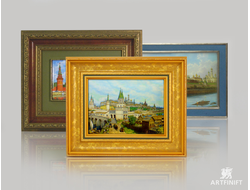 Каталог товаров - Архитектурные пейзажи. Заказать пейзаж в технике ростовской финифти.