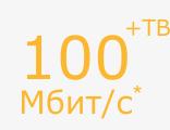 100 Мбит/с + ТВ