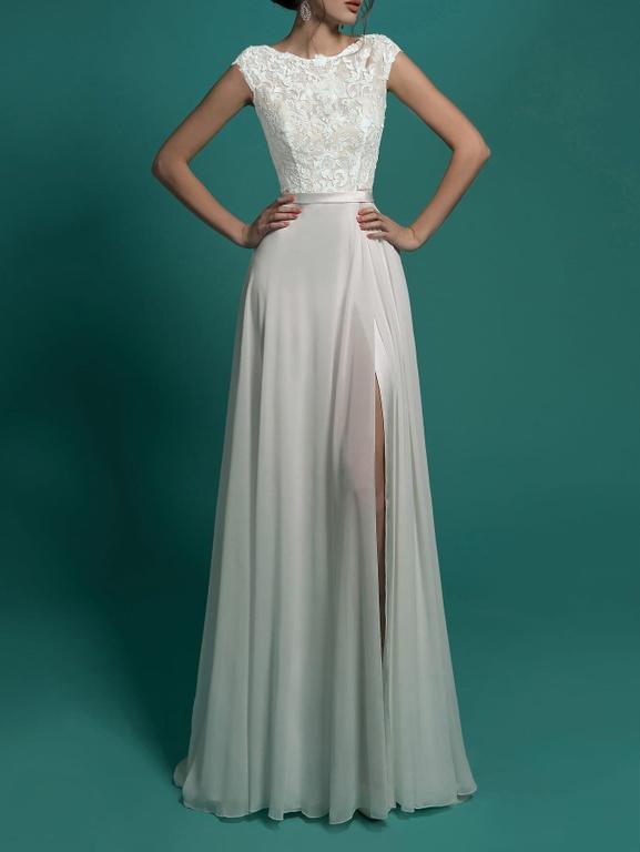 30dce81747f Красивые длинные свадебные платья - rлассическая модель вечернего ...
