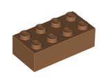 Brick 2 x 4, Medium Dark Flesh (3001 / 6135191)