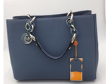 Сумка Michael Kors Cynthia Grey and Blue / Серо-голубая