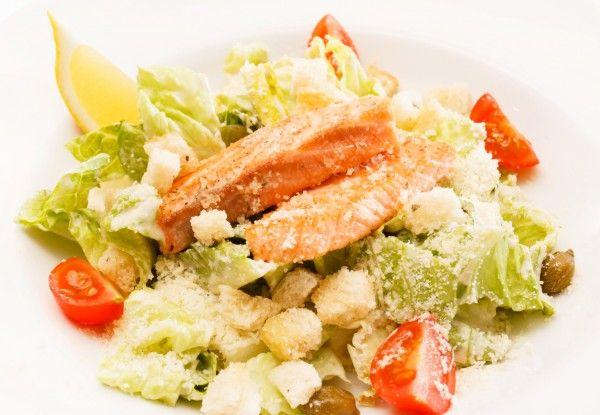 Рецепт цезаря с лососем фото рецепт