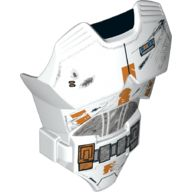 Large Figure Torso with SW Battle Damaged Armor Pattern  Clone , White (21561pb01 / 6122513)