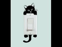 """Наклейка на выключатель """"Котенок"""""""