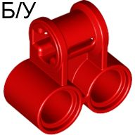 ! Б/У - Technic, Axle and Pin Connector Perpendicular Double, Red (32291 / 4128594) - Б/У