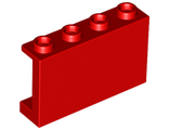 Panel 1 x 4 x 2 with Side Supports - Hollow Studs, Red (14718 / 6049737)