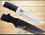Нож Туристический НС-21 (Рукоять: наборная кожа, Сталь: ЭИ-107, Тыльник: алюминий)