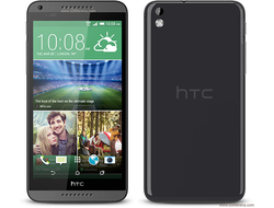 "HTC 816 экран 5.5"", 2 sim, 4 ядра, WiFi, Android, камера 13МР - Черный"