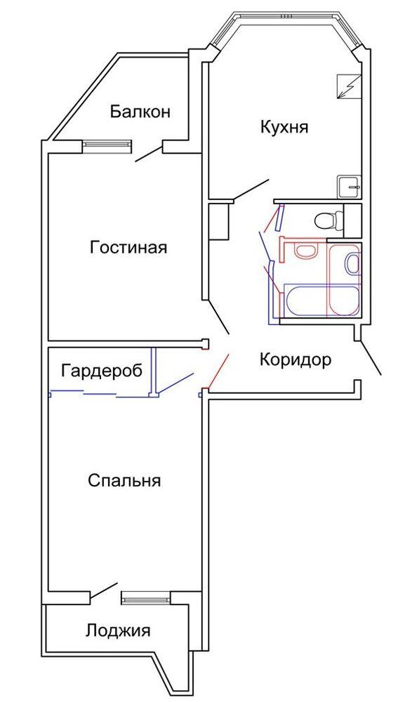 Ремонт квартиры (хрущевка 3-комнатная): идеи перепланировки