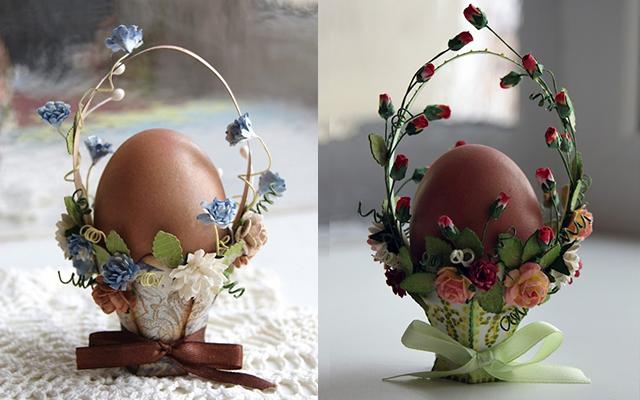 Корзинка для пасхального яйца своими руками