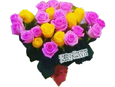 Сочные краски 25 роз