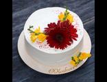 Миндальный бисквитный торт со свежими ягодами / Almond Cake with Berries
