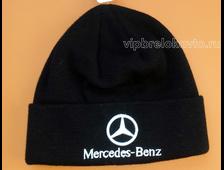 Шапка с логотипом авто MERCEDES black